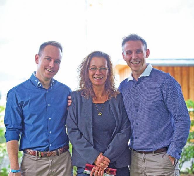 Dr. Stefan Kassner von der HNO Praxis Dr. Kassner am Wasserturm in Mannheimn, Natascha Buchner und Björn Kassner
