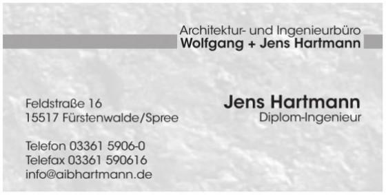 Architektur- und Ingenieurbüro Wolfgang + Jens Hartmann