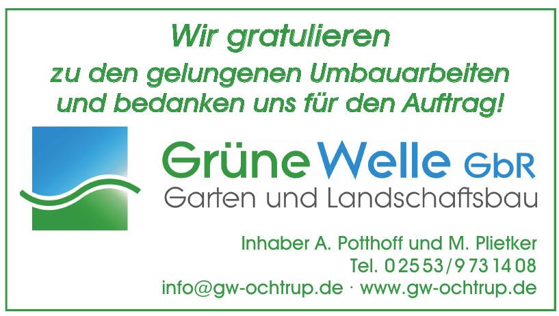 Grüne Welle GbR - Andreas Potthoff, Marion Plietker - Garten und Landschaftsbaubetrieb