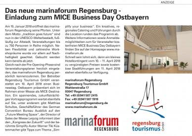 marinaforum Regensburg, Regensburg Tourismus GmbH