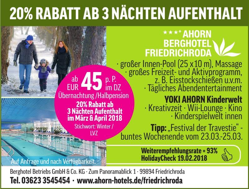 Berghotel Betriebs GmbH & Co. KG