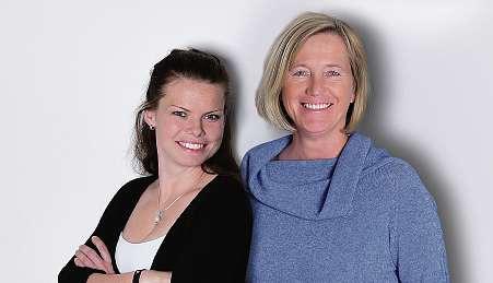Die Pflegedienstleitungen Viola Boss (li.) und Cornelia Valerius. FOTO: HFR