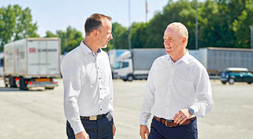 As a forwarding agent Axel Plaß (right) has already initiated several innovations at Krone.