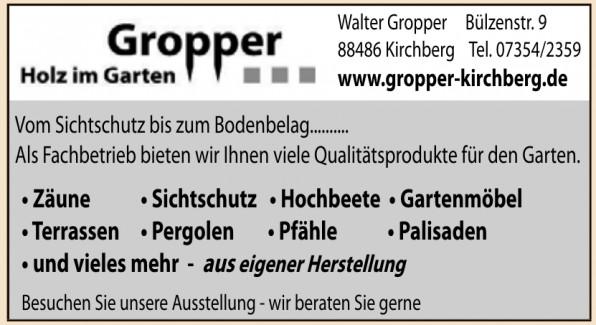 Gropper - Holz im Garten