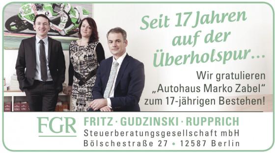 FRITZ · GUDZINSKI · RUPPRICH Steuerberatungsgesellschaft mbH