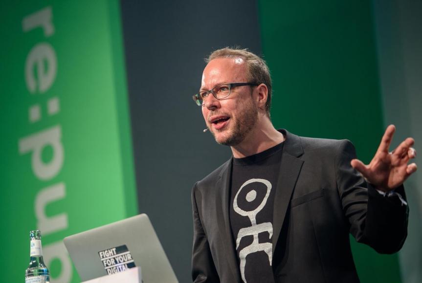 Markus Beckedahl ist einer der vier re:publica-Gründer.FOTO: RE:PUBLICA, GREGOR FISCHER (CC BY-SA 2.0)