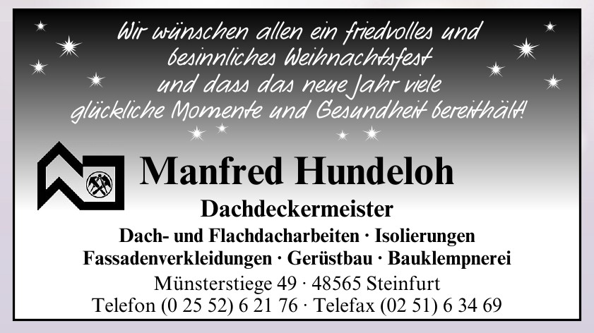 Manfred Hundeloh Dachdeckermeister