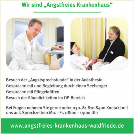 Angstfreies Krankenhaus