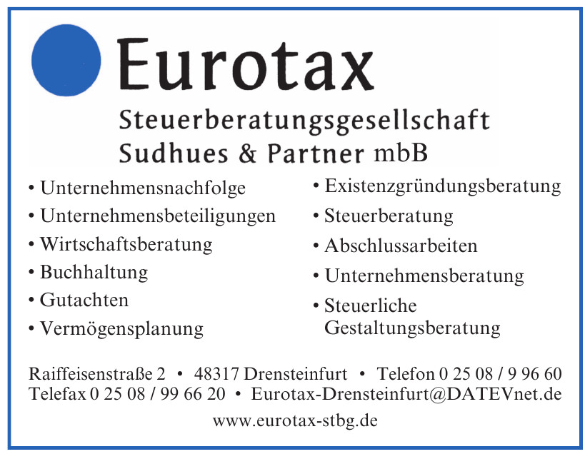 Eurotax Steuerberater Drensteinfurt