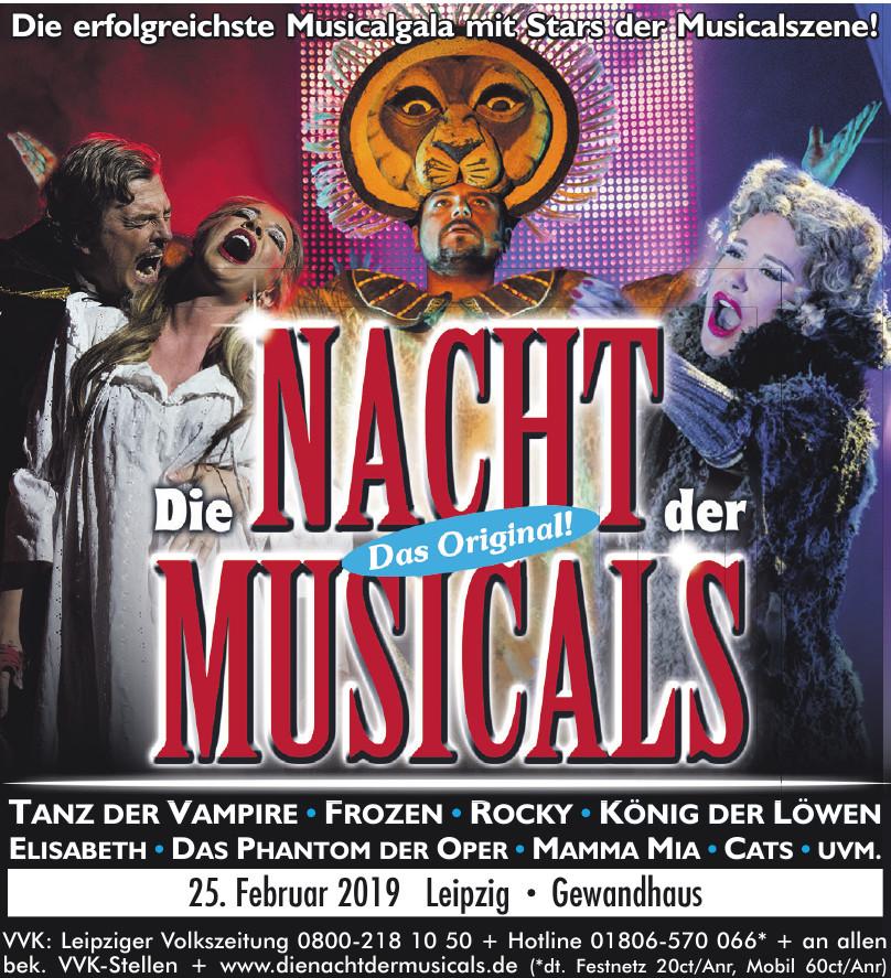 Die Nacht der Musicals Das Orginal