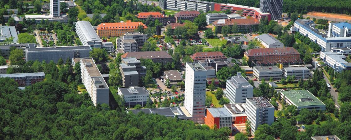 Luftaufnahme der Universität des Saarlandes, Saarbrücken