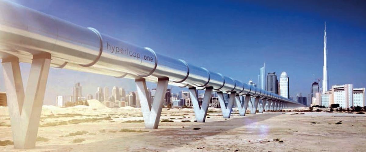 Der Hyperloop wird Pasagiere in zwölf Minuten von Dubai nach Abu Dhabi katapultieren. Mit dem Auto braucht man für die Strecke zwei Stunden.