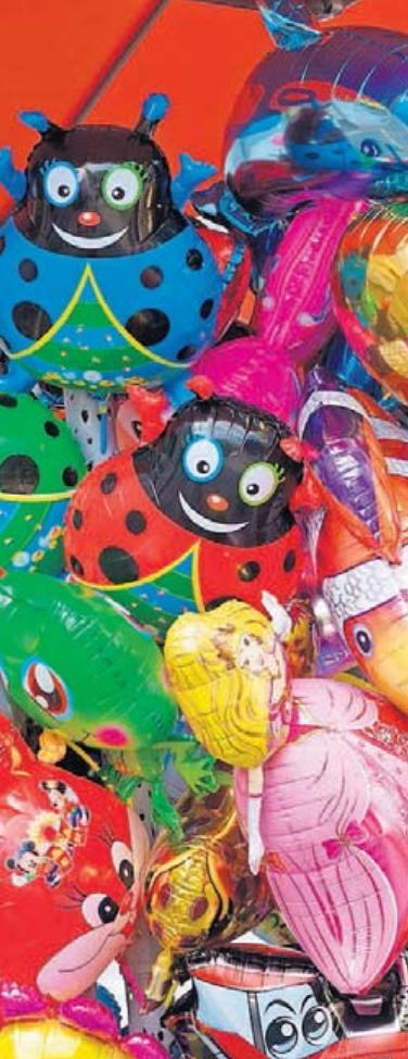 Ein Strauß voll Luftballons – da schlägt das Herz von vielen Kindern höher. Dann heißt es: Gut festhalten!