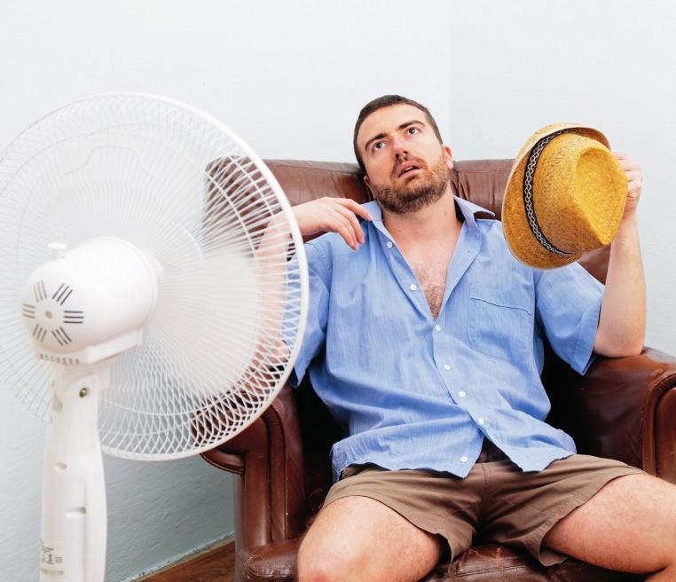 Vorsicht, Ventilator! Was bei Hitze im Moment angenehm scheint, kann schnell böse Folgen haben.