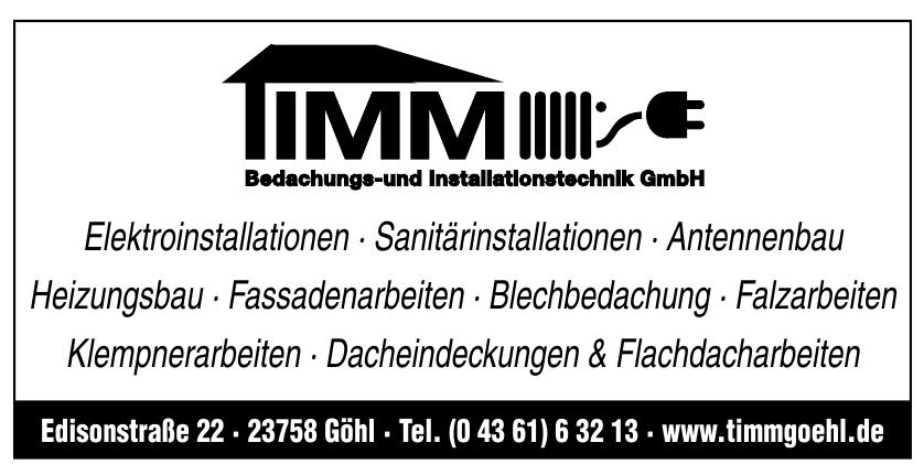 TIMM Bedachungs- und Installationstechnik GmbH