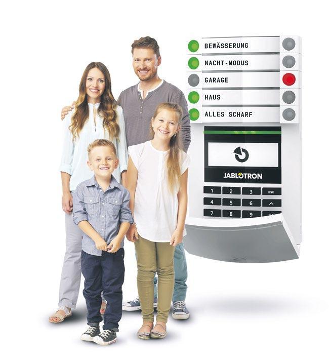 Im Vertrieb von EPS: Das Alarmsystem Jablotron 100 vereint die Möglichkeiten der klassischen Alarmanlage mit einer breiten Auswahl an Automatisierungselementen und -funktionen