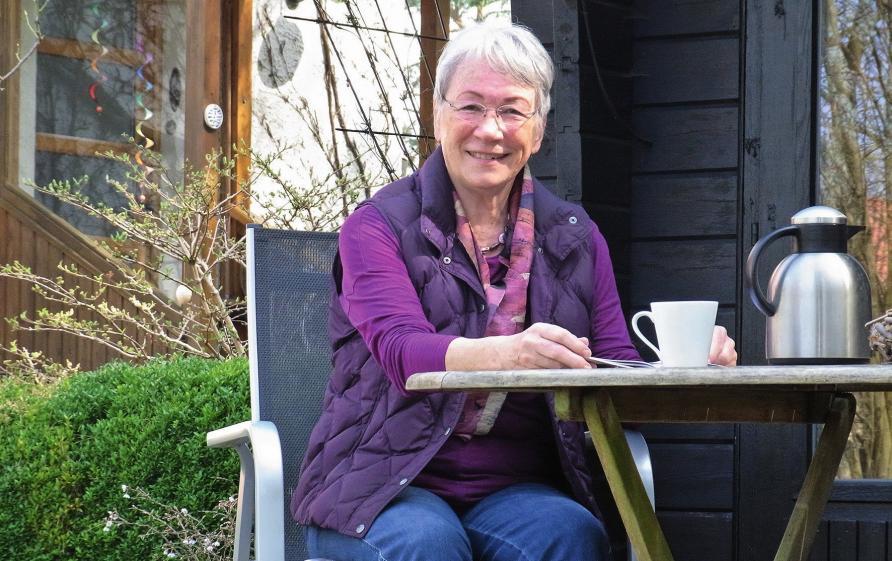 Ruhepol für Denkarbeit: Im Garten nimmt sich Friederike Franke die Zeit, weitere tolle  Kulturangebote für Leute mittleren Alters zu entwickeln.