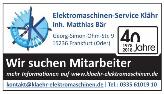 Elektromaschinen-Service Klähr
