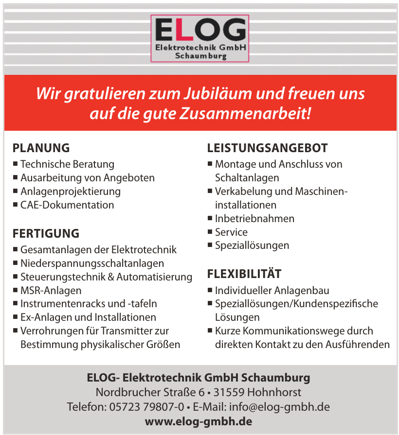 ELOG- Elektrotechnik GmbH Schaumburg