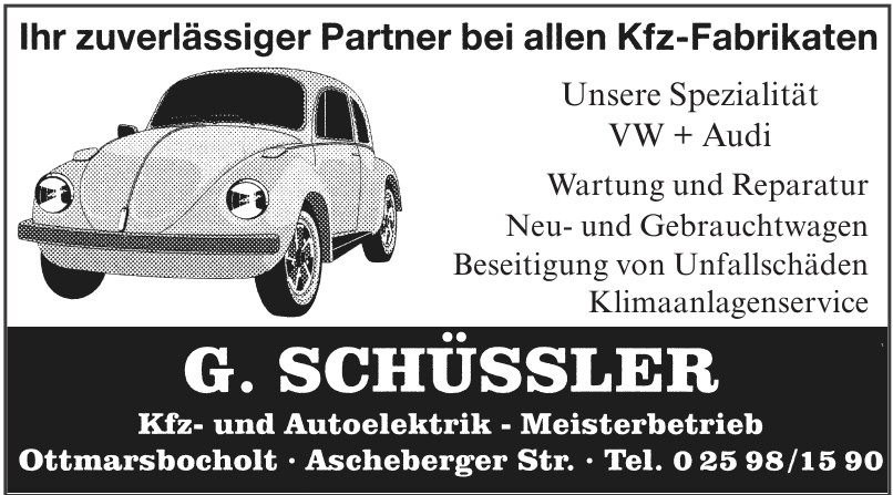 G. Schüssler Kfz- und Autoelektrik-Meisterbetrieb