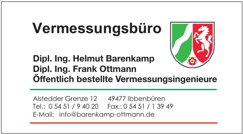 Vermessungsbüro Dipl. Ing. Helmut Barenkamp Dipl. Ing. Frank Ottmann