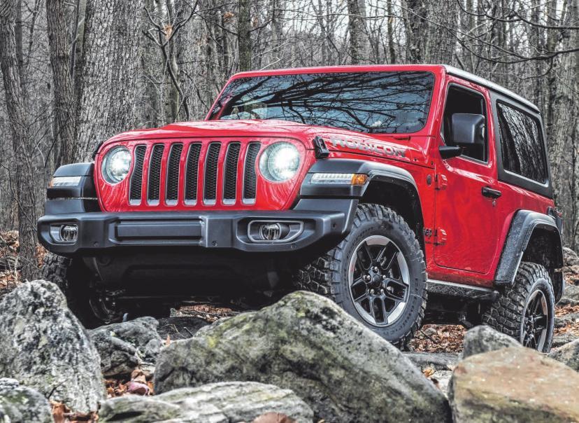 Als legendärer Gelände-Champion liefert der neue Jeep® Wrangler das höchste Niveau an Komfort und Handling. FOTOS: JEEP