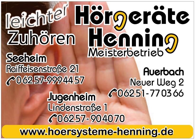 Hörgeräte Henning Meisterbetrieb