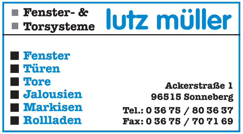 Lutz Müller Fenster- & Torsysteme