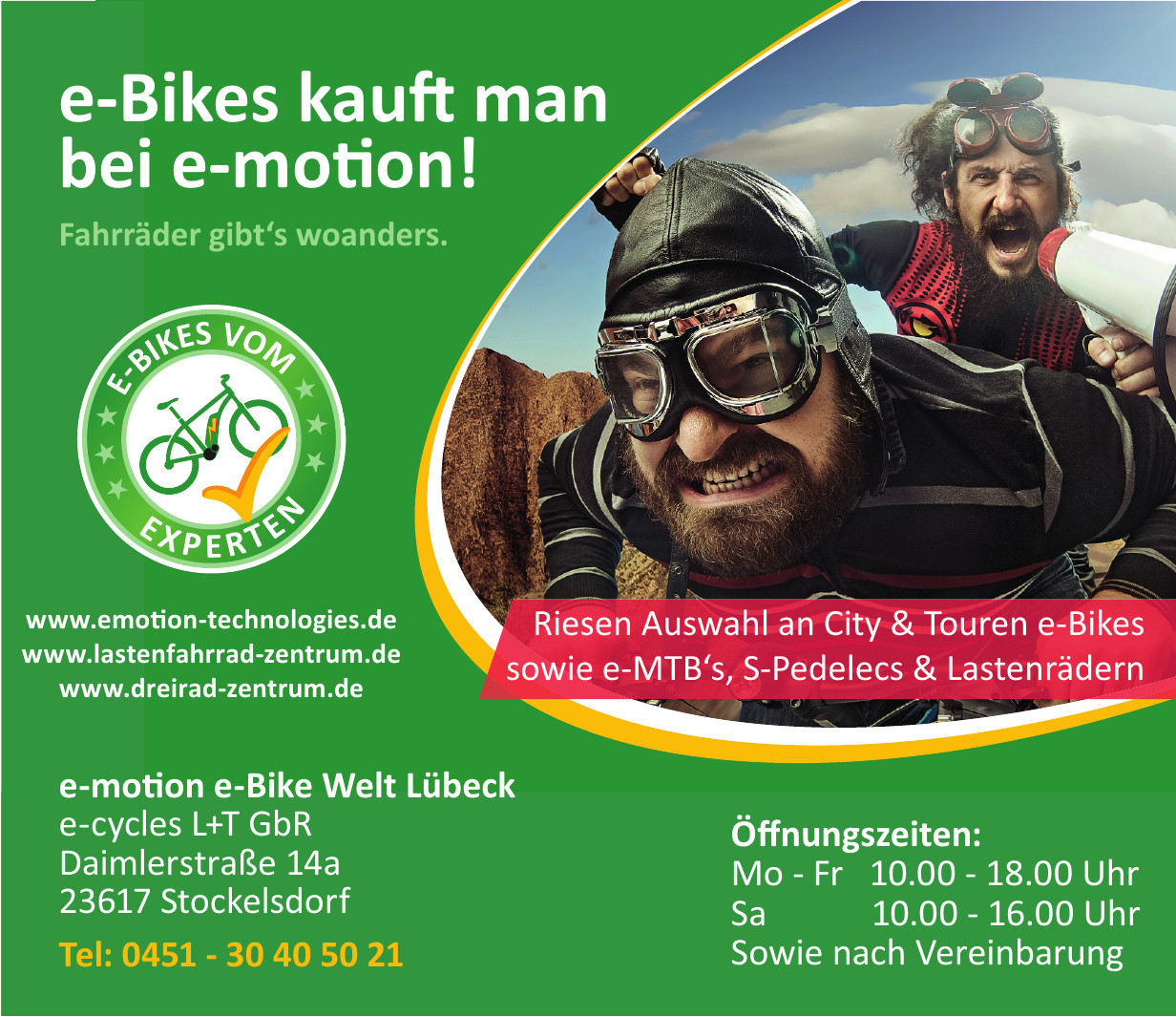e-motion e-Bike Welt Lübeck e-cycles L+T GbR