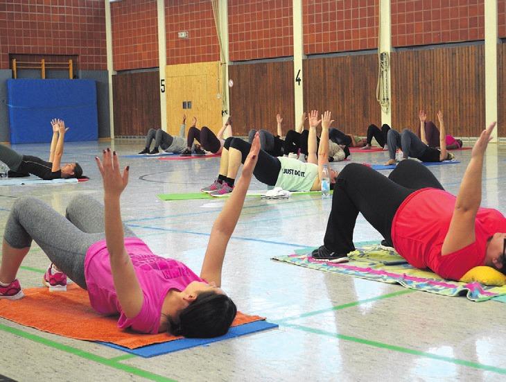 """Am Interkulturellen Frauensporttag luden die Stadt und der Stadtsportbund unter anderem zu Kursen wie """"Bewegter Rücken"""" ein."""