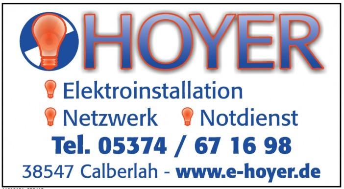 Hoyer Elektroinstallation - Netzwerk - Notdienst