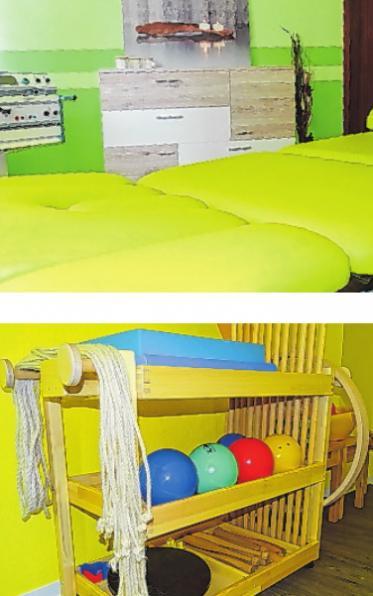 Die drei Behandlungsräume und ein Sportraum eröffnen viele Möglichkeiten.