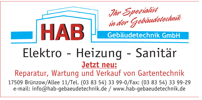 HAB GmbH Elektro - Heizung - Sanitär