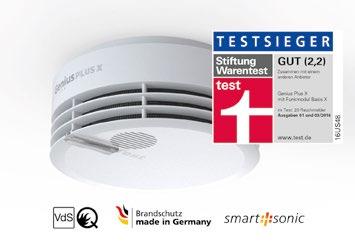 Qualitätsbeweis: Funkvernetzte Rauchwarnmelder von Hekatron zum dritten Mal in Folge Testsieger.