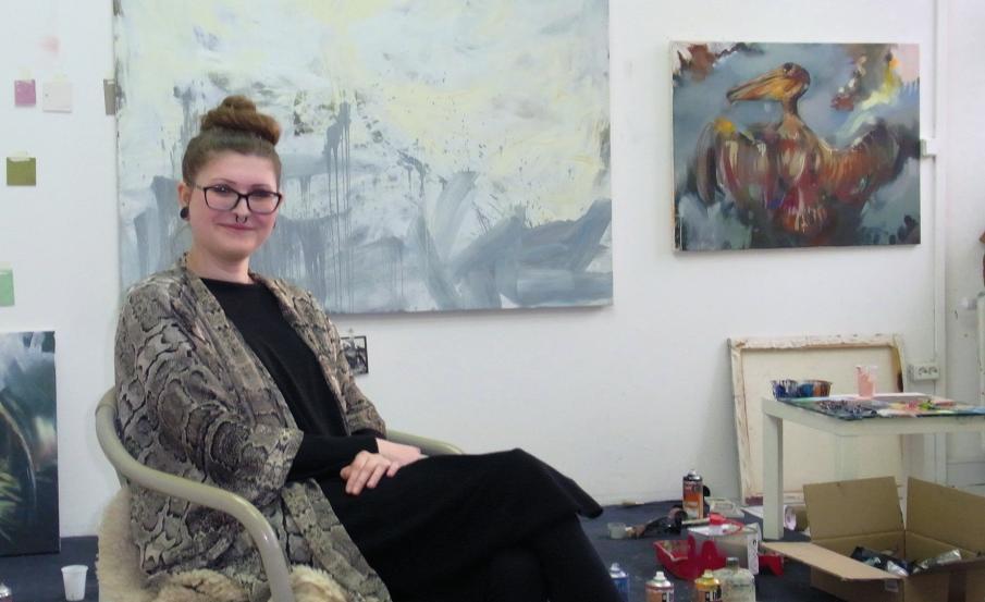 Seit Mitte März in Meinersen: Malerin Maria Trezinski freut sich auf eine Vielfalt von neuen Motiven in der umliegenden Natur