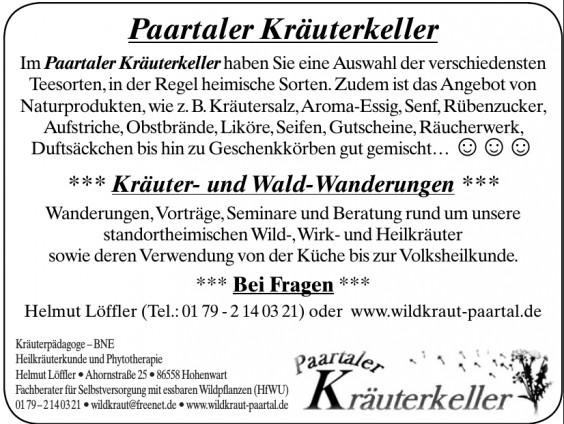 Paartaler Kräuterkeller - Helmut Löffler