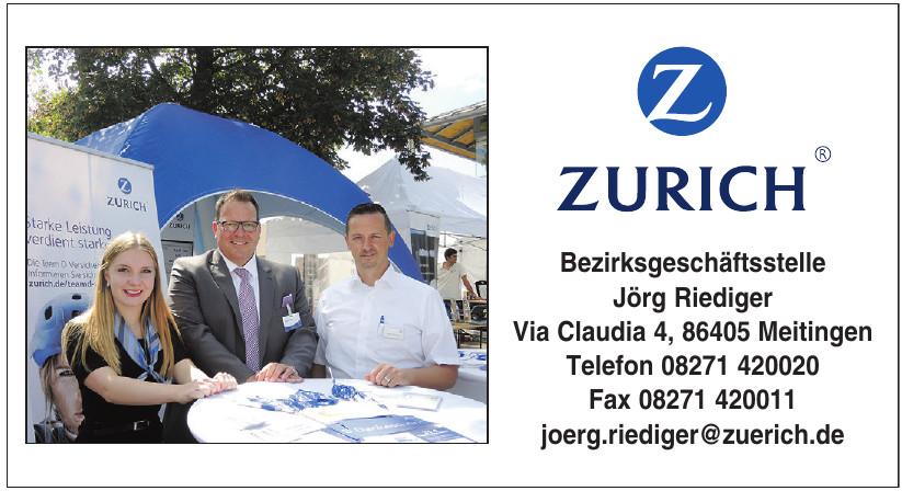 Zurich Bezirksgeschäftsstelle Jörg Riediger
