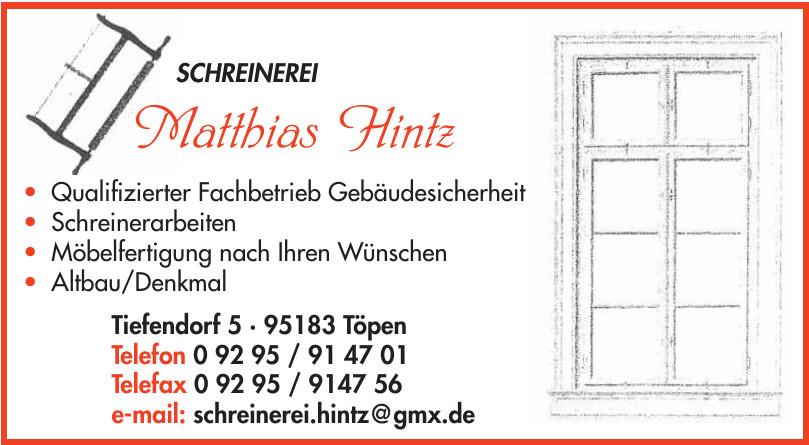 Schreinerei Matthias Hintz