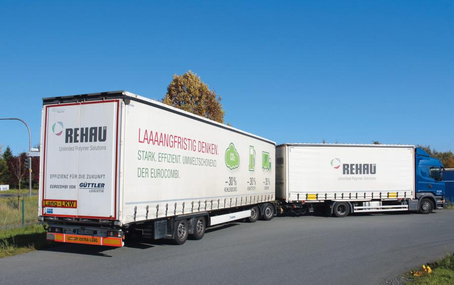 By using long vehicle combinations, Güttler-Logistik save fuel and CO2.