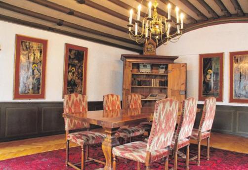 """Die """"Sala Historica"""" ist der äölteste Teil des Gebäudes, in dem lediglich die Fenster erneuert wurden."""