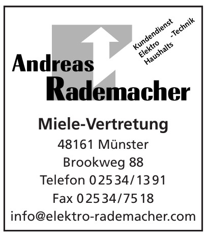 Andreas Rademacher - Miele-Vertretung