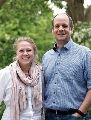 Janine und Hauke Haensch, Geschäftsführer der Personalagentur Auxilium. FOTO: THOMAS FAUST