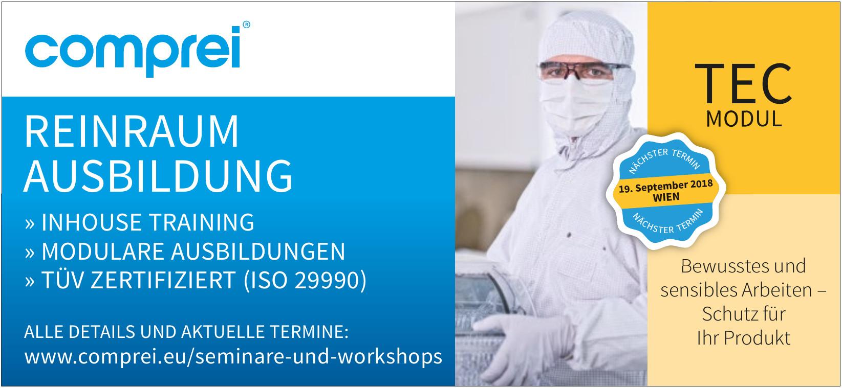 comprei® Reinraum-Ausbildung