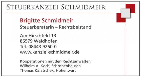 Brigitte Schmidmeir Steuerberaterin – Rechtsbeistand