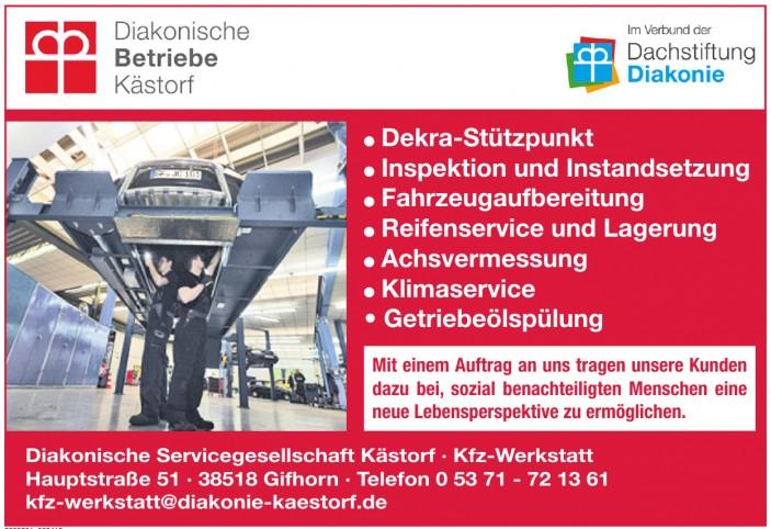 Diakonische Servicegesellschaft Kästorf - Kfz-Werkstatt