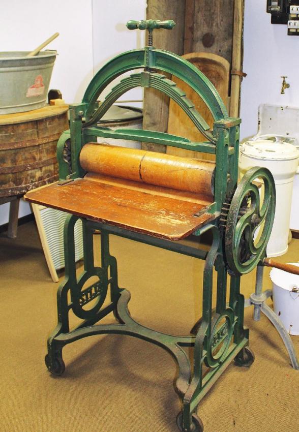Und auch die Wäschemangel tat einst richtig gute Dienste.