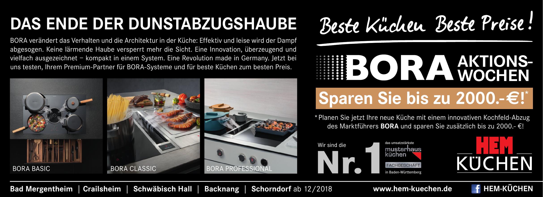 Bora-Aktionswochen bei HEM Küchen in Schwäbisch Hall