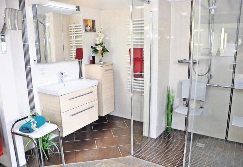 Ebenerdige Duschen sorgen für einen bequemen einstieg auch für in der Mobilität eingeschränkte Nutzer. Foto: Archiv