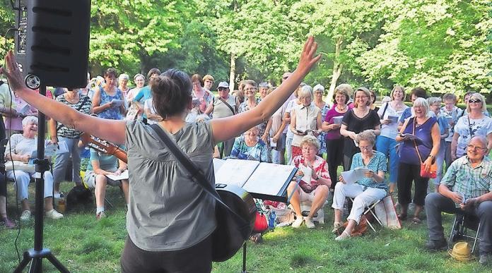 Mittwochs gibt es den Auftakt zum Bürgersingen im Johannapark.Foto: Stiftung Bürger für Leipzig