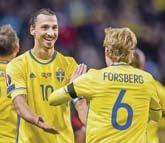 Superstar Zlatan Ibrahimovic (links) wurde nicht nominiert. Dahlin erwartet deswegen eine reine Kontertaktik.